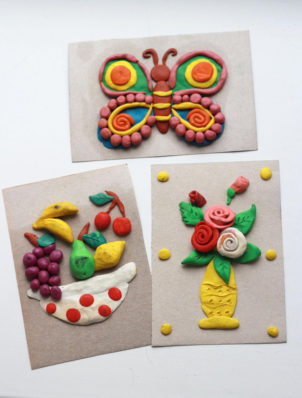 Поделки для школьников из пластилина